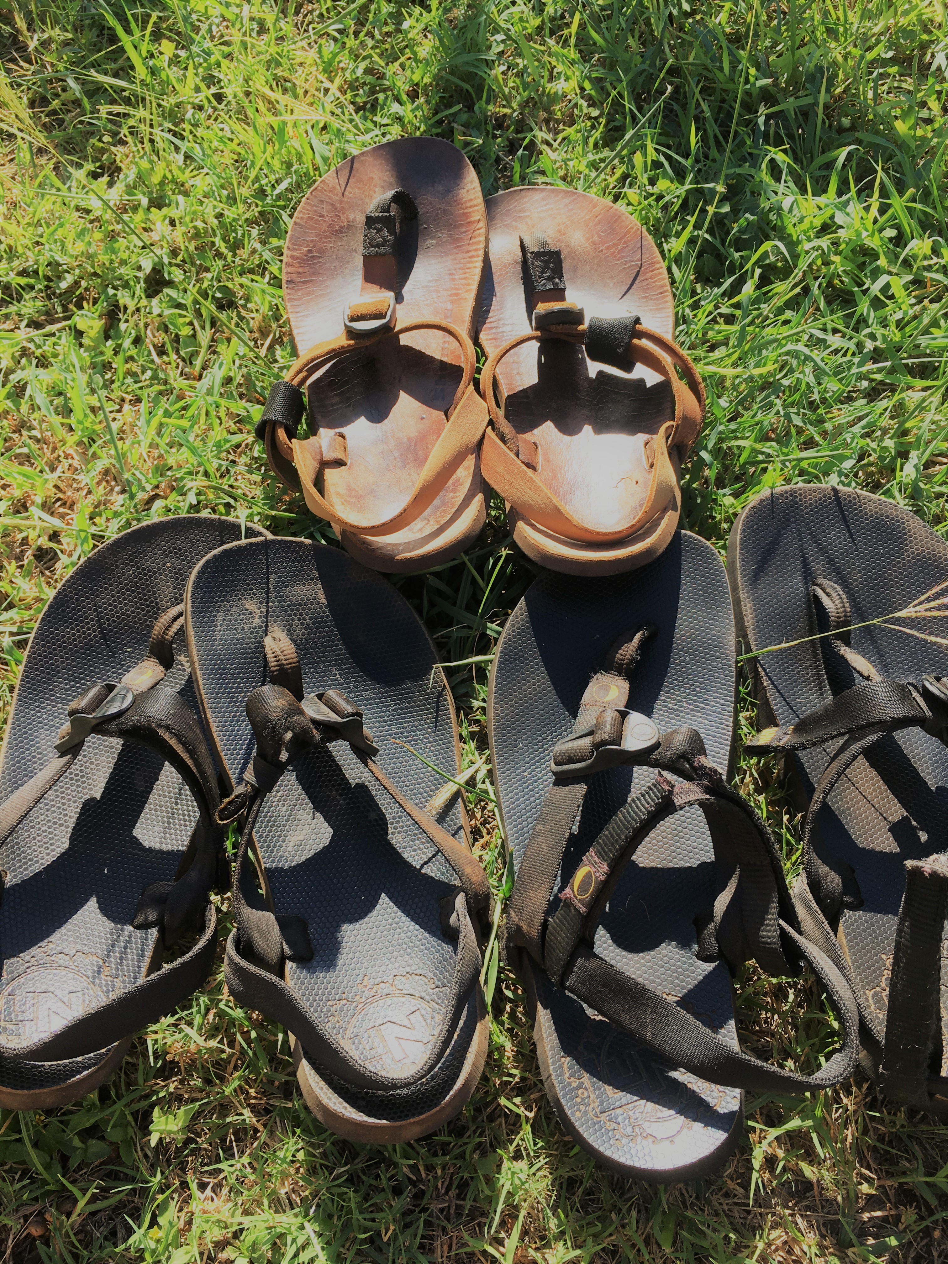 old Shamma and Luna sandals