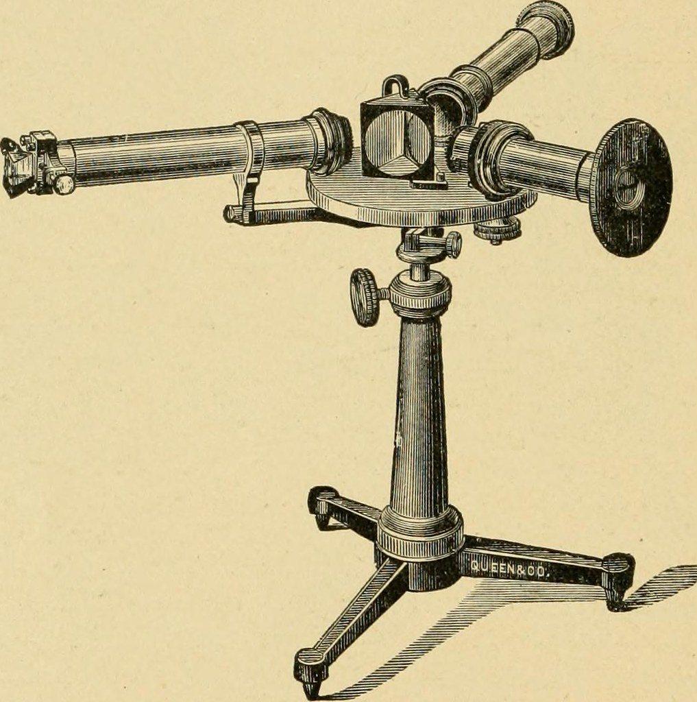 line drawing of three different scopes on a pedestal